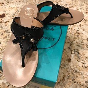 Jack Rogers 7.5M Alana black w/ patent sandal